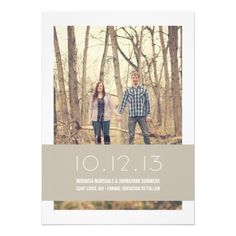 #Tan #Modern #Photo Save The Date #Announcements #wedding
