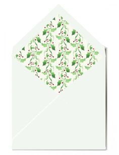 CocoCards, Holly lined envelope to go with my personalised Christmas cards invitations Christmas Photo Cards, Christmas Photos, Family Christmas, Christening Invitations, Birthday Party Invitations, Birthday Parties, Personalised Christmas Cards, Personalized Stationery, Envelope