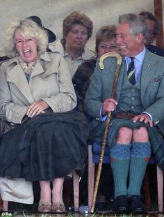 Heir-larious: Camilla and Charles share a not-so-private joke (or has Camilla just broken wind?)
