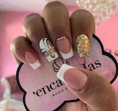 Short Nail Designs, Nail Art Designs, Long Acrylic Nails, Metallic Nails, Elegant Nails, Bridal Nails, Super Nails, Manicure And Pedicure, Nail Arts