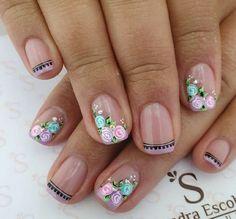 Cute Spring Nails, Manicure, Beauty, Finger Nails, Polish Nails, Toe Nail Art, Short Nail Manicure, Nail Manicure, Nail Bar