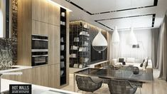 Дизайн интерьера коттеджа г.Екатеринбург, поселок Карасьеозерский-2: вид на кухню