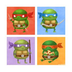 TMNT- I was MichaelAngelo for halloween... obviously.. it makes sense now.