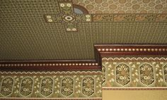 Familiarity with the history of wallpaper patterns, design, production methods, popularity, and usage is interesting and will help you decide which wallpaper is the most appropriate for your home. Wallpaper Ceiling, Interior Wallpaper, Old Wallpaper, Print Wallpaper, Pattern Wallpaper, Victorian Townhouse, Victorian Interiors, Victorian Decor, Victorian Homes
