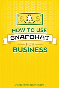 Are you interested in using Snapchat for your business?  Snapchat presents a unique opportunity to reach a new audience that is receptive to clever, creative marketing.  In this article youll discover how to use Snapchat in your social media marketing. V