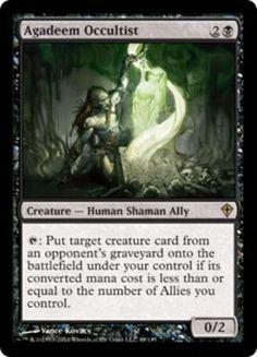 Agadeem-Occultist-x4-Magic-the-Gathering-4x-Worldwake-mtg-card-lot-NM-ally Agadeem Occultist Magic the Gathering mtg black ally creature Worldwake rare