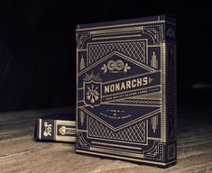 ::: Monarchs Playing Card Case via Neighborhood Studio : Journal Cover Treatment Idea : Foil Embossing : Fancy : Magnificent : Detailed :::