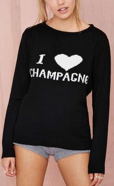 Champagne Sweater. Love this sweater! Not sure what's going on with the shorts.......