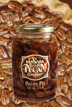 The perfect filling is ready for you to add fresh eggs and butter and bake in your own pie shell. Complete instructions are on the lid for a Perfect Pecan Pie every time. It is as easy as adding the f Dessert In A Jar, Pie Dessert, Dessert Recipes, Just Desserts, Delicious Desserts, Yummy Food, Pecan Recipes, Cooking Recipes, Jar Recipes
