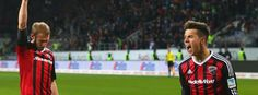 Ingolstädter Hartmann (l.), Morales: Höchster Bundesligasieg: Ingolstadt-Darmstadt 3:1, 13. Sptg