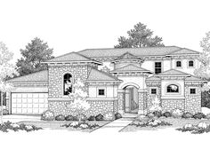 Cervantes Santa Fe Style Home  from houseplansandmore.com