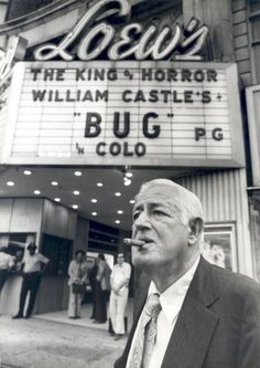 "BUG (1975) was William Castle's last film as a producer, and always the showman he wanted as a ""gimmick"" to install brushes near the seats that would rub against theater patrons legs to simulate bugs crawling."