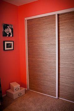 Covering Mirrored Closet Doors Design Idea