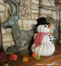 Timeless Treasures : Dryer vent hose Snowy Snowman Tutorial