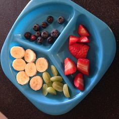 Harrison's fruit platter this morning he's already eaten some toast and 1 weetabix with jam #snacktime #breakfast #fruitsalad #fruitplatter #bananas #grapes #blueberries #strawberries #toddlerfood #toddlersnack #instafood #babyledweaning #whatifeedmykid #healthytoddler by hollys1995
