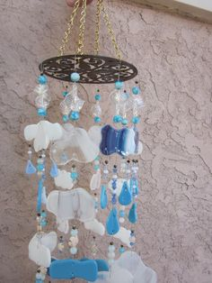 Cloudy day chimes, fused glass www.ebay.com/usr/MattsGlassact