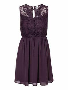 JOSEFINE LACE S/L DRESS #veromoda #lace #dress #party #purple @Veronica MODA