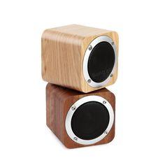 Portable Solid Wood Bluetooth Stereo Speaker Super Bass Subwoofer Support FM TF Card U Disk Soundbox Sale - Banggood.com
