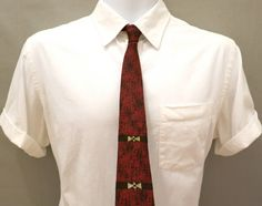 Silk Red Skinny Necktie