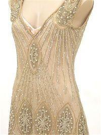 20's Style Jazz Era Gold Beaded Flapper Dress | Kaboodle