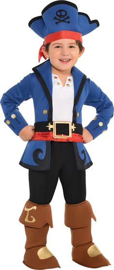 Toddler Boys Captain Jake Costume - Jake and the Never Land Pirates - Party City
