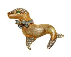 Kenneth Lane Brooch K.J.L. Circus Seal Rare by PearlModern on Etsy, $350.00