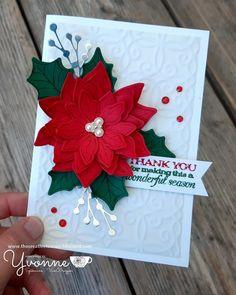 Christmas Card Sayings, Cute Christmas Cards, Christmas Paper Crafts, Homemade Christmas Cards, Christmas Blessings, Xmas Cards, Holiday Cards, Poinsettia Cards, Christmas Poinsettia