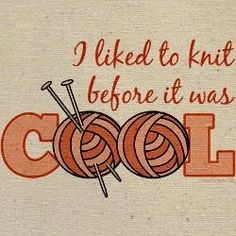 I Liked To Knit Before It Was Cool Keepsake Box