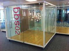 VIP: Create desirable office pods (semi transparent would be better).