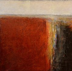 """""""Point of No Return"""" - abstract oil & cold wax on board by Pam  Peterson (www.pampetersonart.com)"""