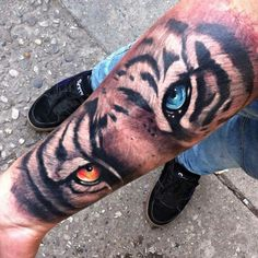Ideas Eye Tattoo Leg Beautiful For 2019 Tiger Claw Tattoo, Tiger Eyes Tattoo, Tiger Tattoo Sleeve, Big Cat Tattoo, Tiger Tattoo Design, Sleeve Tattoos, Tattoo Designs, Inner Bicep Tattoo, Forearm Tattoos