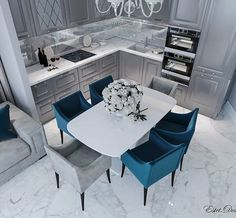 31 The Benefits Of Suites A Dream Dining Room That Is Perfect For Luxurious Interiors 1 - homemisuwur Farmhouse Kitchen Decor, Home Decor Kitchen, Kitchen Interior, Kitchen Dining, Dining Room Design, Interior Design Living Room, Modern Kitchen Design, Luxury Interior, Home Living Room