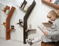 'Booktree' in tineo and ebony finishees by kostas syrtariotis in 100 Creative Furniture: Reloaded