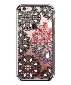 Another great find on #zulily! Black & Clear Mandala Circles iPhone Case #zulilyfinds