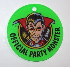 Bally PARTY ZONE 1991 NOS PINBALL MACHINE Promo Plastic DRACULA Party Monster…