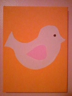 Canvas I painted for my toddler girl's room. Got inspiration off the quilt I bought for the twin bed designs (almost exactly; I'm not that creative from scratch.)  (2 of 3)