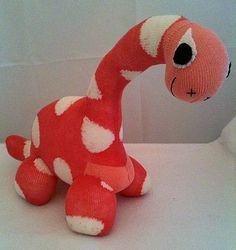 Sock Dinosaur Sockosaurus Sock Animal Sock por SockMonkeyEmporiumUK