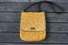Mustard yellow felted messenger bag saffron crossbody women schoulder bag wool  purse genuine leather handle satchel bag embroidered bag by AureliaFeltStudio on Etsy