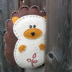 Hedgehog Stuffed Animal Hand Sewing PATTERN by LittleHibouShoppe, via Etsy.