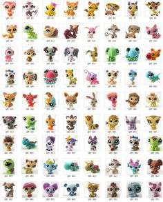 Littlest Pet Shop stuffed Animals (giraffe, cat, dog, ladybug, bambi, monkey, crush turtle) -areli