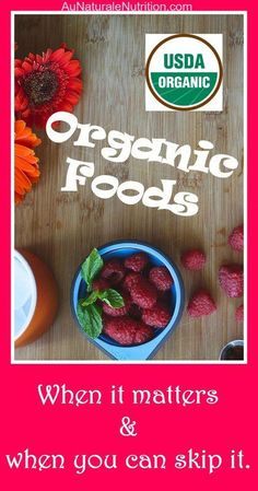 Organic Foods: Are they worth the cost? What are the health benefits? What does the organic symbol really mean? Which foods are especially important to buy organic? & Good Behavior through Mandatory Clean Recipes, Organic Recipes, Real Food Recipes, Clean Foods, Fast Recipes, Healthy Food Options, Healthy Habits, Healthy Recipes, Healthy Nutrition