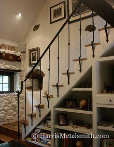 Early American Wrought Iron Railing - Harris Metalsmith Studio