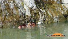 Soaking at Aguas Calientes...hot springs outside of Santiago