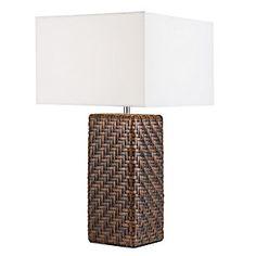 Home Collection Lámpara Sobremesa Ratán 1 luz Blanco Decor, House Design, Lighting, Lamp, Home Decor