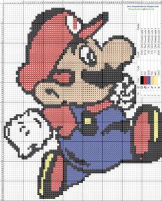 Mario cross stitch pattern. <3
