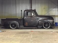 nearly slammed Advanced Design Chevrolet pickup daily driver jalopy with a stack exhaust.