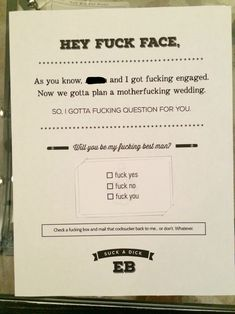 Funny best man proposal