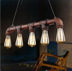 44.10$  Watch now - http://ali4a8.shopchina.info/go.php?t=32669790699 - Loft Vintage Edison Pendant Lights Personalized Bar Lighting Industrial Vintage Water Pipe Pendant Lamp E27Cafe Bar Lamps 44.10$ #magazineonlinewebsite