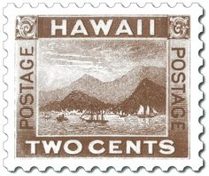Hawaii Two Cent Stamp, 1894 HI postage