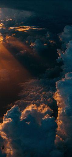 clouds during golden hour Dark Wallpaper Iphone, Cloud Wallpaper, Homescreen Wallpaper, Sunset Wallpaper, Iphone Background Wallpaper, Scenery Wallpaper, Aesthetic Iphone Wallpaper, Photo Wallpaper, Nature Wallpaper